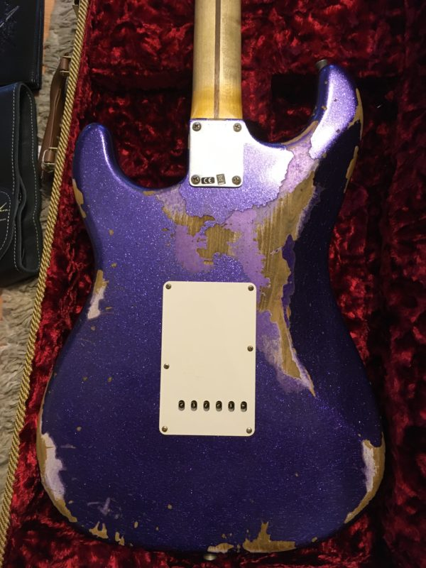 IMG 3732 600x800 - 2017 Fender Custom Shop 1957 Heavy Relic Purple Sparkle Strat