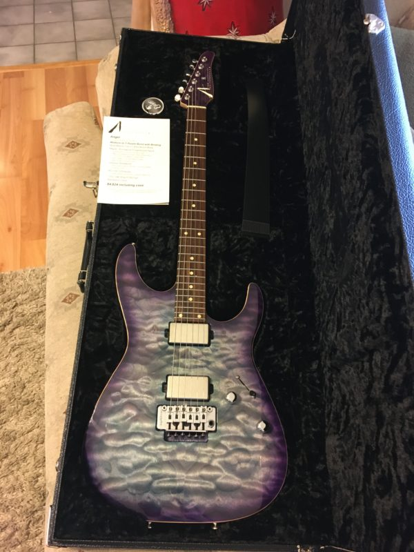 IMG 3818 600x800 - 2019 Tom Anderson Angel Abalone to T-Purple Burst Quilt Top Guitar