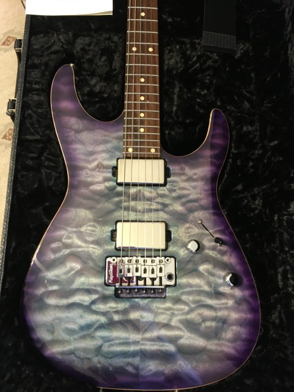 IMG 3819 600x800 - 2019 Tom Anderson Angel Abalone to T-Purple Burst Quilt Top Guitar
