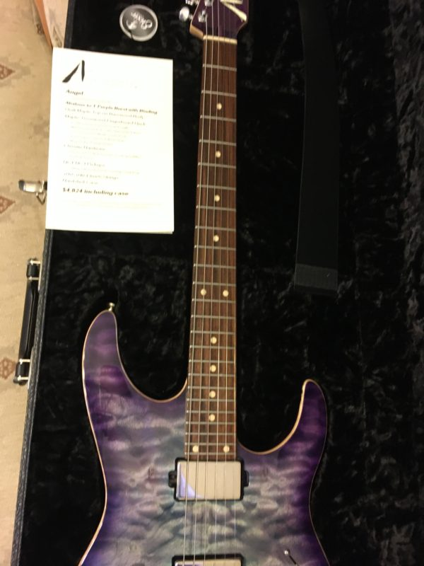 IMG 3822 600x800 - 2019 Tom Anderson Angel Abalone to T-Purple Burst Quilt Top Guitar