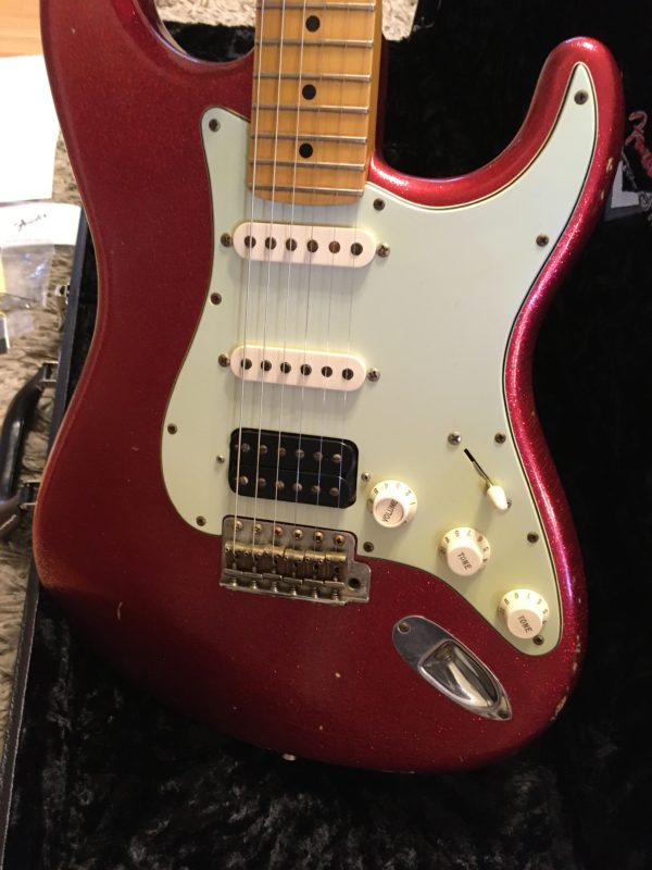 IMG 3873 600x800 - 2008 Fender Custom Shop Classic Heavy Relic HBS-1 Red Sparkle Strat