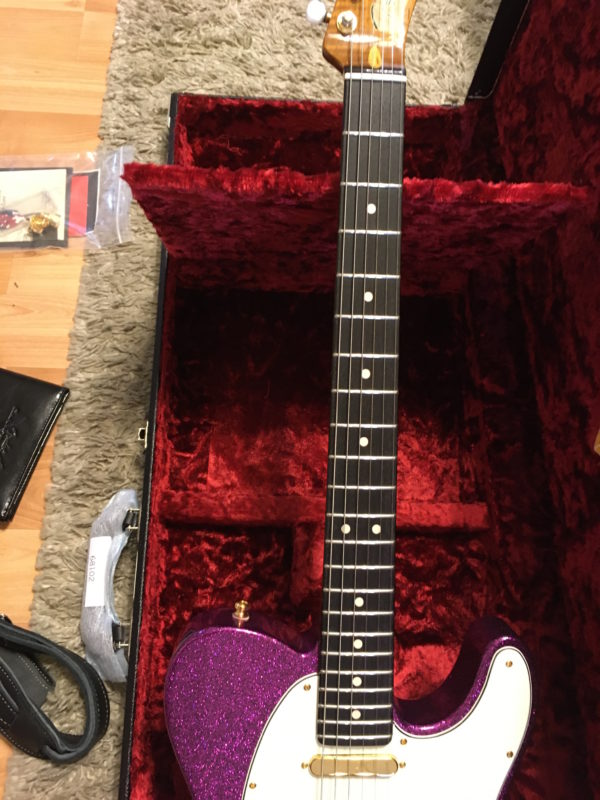 IMG 3889 600x800 - Fender Custom Shop Super Custom Deluxe Telecaster Electric Guitar Magenta Sparkle