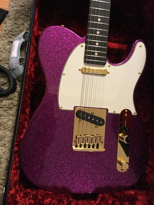 IMG 3890 600x800 - Fender Custom Shop Super Custom Deluxe Telecaster Electric Guitar Magenta Sparkle