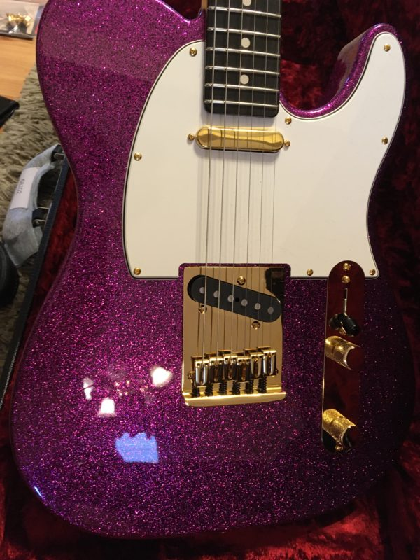 IMG 3897 600x800 - Fender Custom Shop Super Custom Deluxe Telecaster Electric Guitar Magenta Sparkle