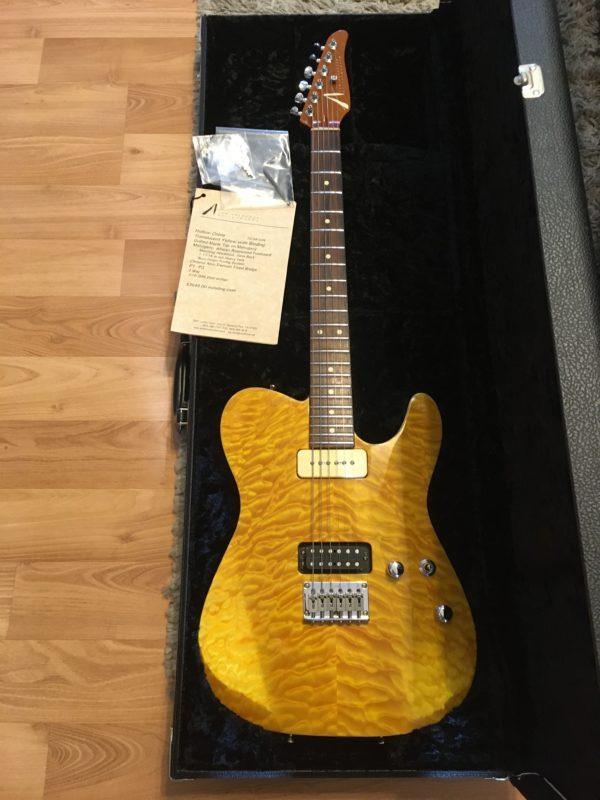 IMG 3949 600x800 - 2003 Tom Anderson Hollow Cobra Translucent Yellow Quilt Top Guitar