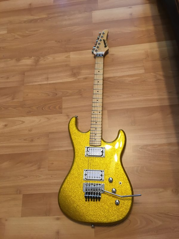IMG 4333 600x800 - Kramer Limited Edition Pacer Vintage Metallic Gold Sparkle Guitar-New