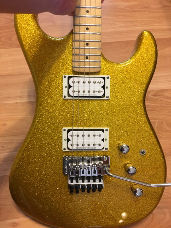 IMG 4336 600x800 - Kramer Limited Edition Pacer Vintage Metallic Gold Sparkle Guitar-New