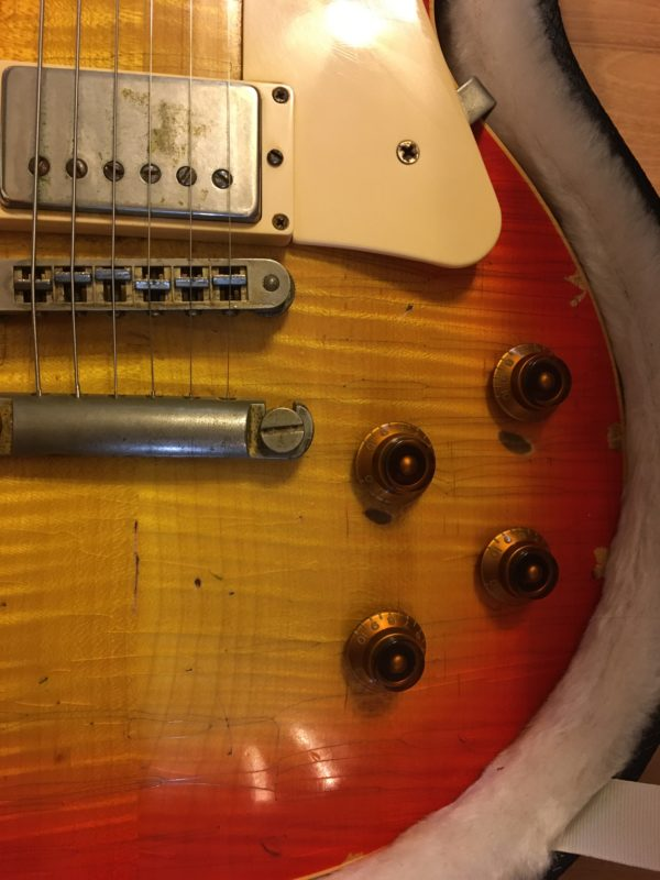 IMG 4641 600x800 - 2014 Nash Conversion Relic Gibson Les Paul Standard Cherry Burst Flame Top