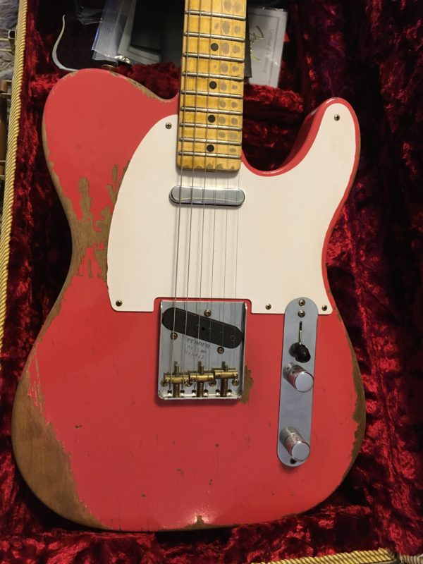 IMG 5496 600x800 - 2017 Fender Custom Shop 1950's Heavy Relic Telecaster Faded Fiesta Red