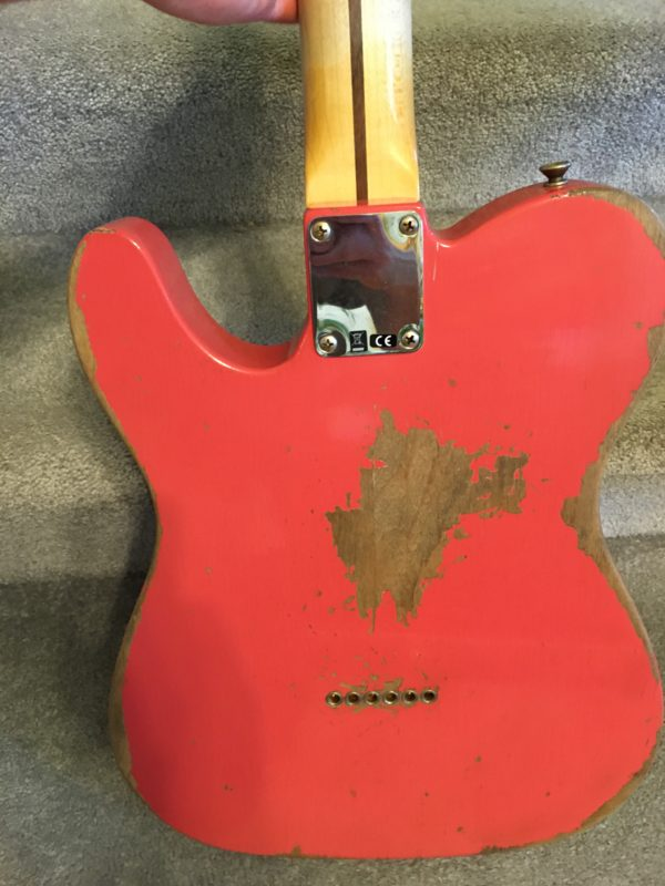 IMG 5504 600x800 - 2017 Fender Custom Shop 1950's Heavy Relic Telecaster Faded Fiesta Red