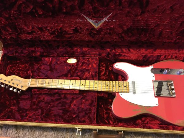 IMG 5505 600x450 - 2017 Fender Custom Shop 1950's Heavy Relic Telecaster Faded Fiesta Red