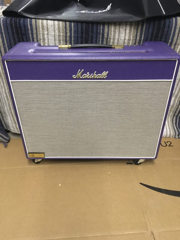 IMG 5697 600x800 - 1996 Marshall JTM50 Tremolo 2x12 Combo Special Guitar Center Edition in Purple