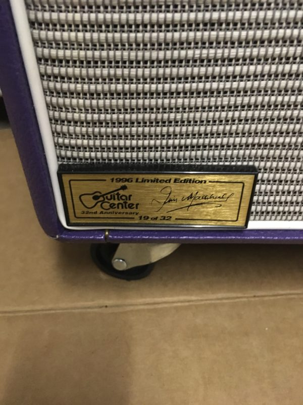 IMG 5698 600x800 - 1996 Marshall JTM50 Tremolo 2x12 Combo Special Guitar Center Edition in Purple