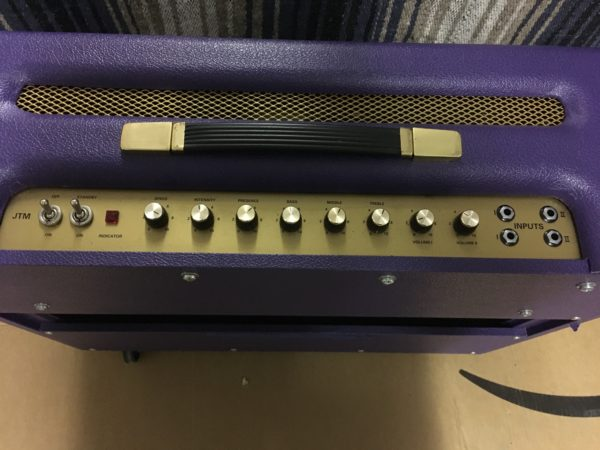 IMG 5700 600x450 - 1996 Marshall JTM50 Tremolo 2x12 Combo Special Guitar Center Edition in Purple