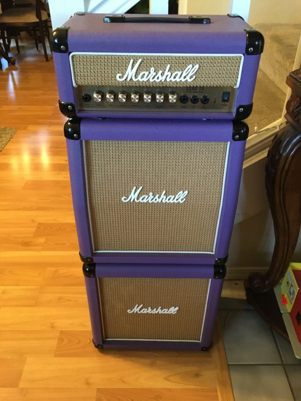 IMG 5913 600x800 - Marshall LEAD 15 G15MS Mini Stack Rare Purple/Basket Weave Cabs