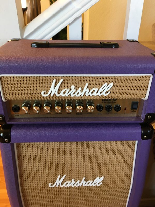 IMG 5914 600x800 - Marshall LEAD 15 G15MS Mini Stack Rare Purple/Basket Weave Cabs