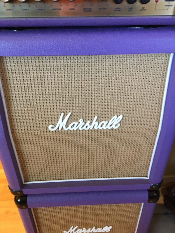 IMG 5915 600x800 - Marshall LEAD 15 G15MS Mini Stack Rare Purple/Basket Weave Cabs