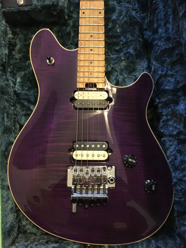 IMG 5934 600x800 - Peavey Wolfgang USA Standard Archtop Purple Flame Top