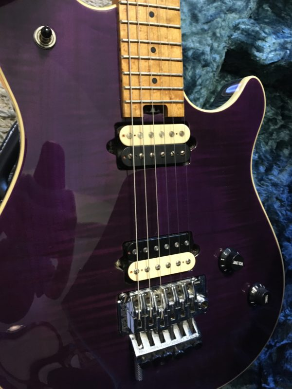 IMG 5937 600x800 - Peavey Wolfgang USA Standard Archtop Purple Flame Top
