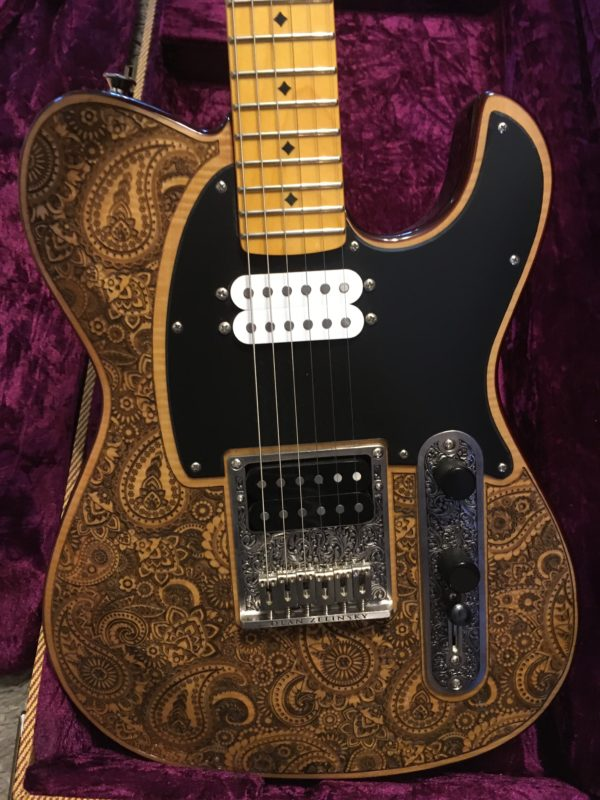 IMG 6766 600x800 - Dean Zelinsky Delletara Z-Glide Private Label Engraved Paisley Guitar