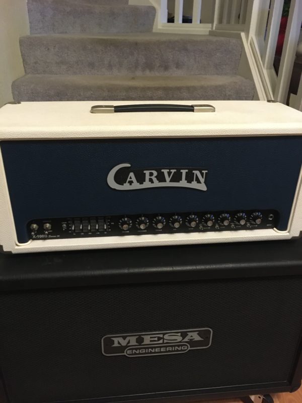 IMG 7620 600x800 - Carvin X-100B Series IV Guitar Tube Amp Head-Rare White Tolex W/Footswitch