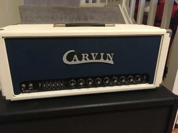 IMG 7622 600x450 - Carvin X-100B Series IV Guitar Tube Amp Head-Rare White Tolex W/Footswitch