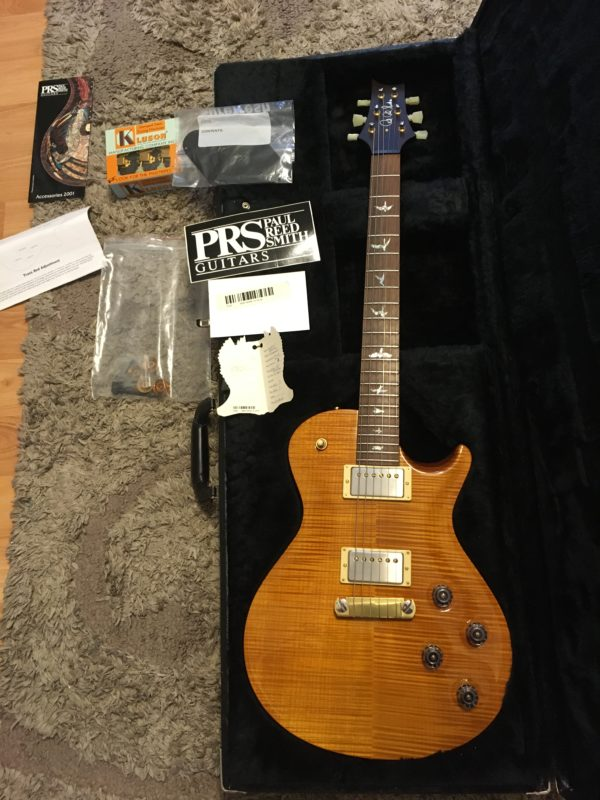 IMG 7738 600x800 - 2001 PRS Limited Edition 100/250 Single Cut Solid Brazilian Rosewood Neck 10 Top Amber Guitar