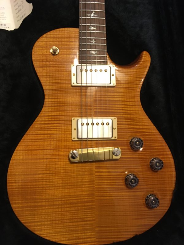 IMG 7740 600x800 - 2001 PRS Limited Edition 100/250 Single Cut Solid Brazilian Rosewood Neck 10 Top Amber Guitar