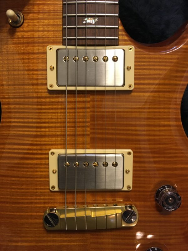 IMG 7744 600x800 - 2001 PRS Limited Edition 100/250 Single Cut Solid Brazilian Rosewood Neck 10 Top Amber Guitar
