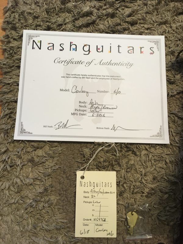 IMG 8353 600x800 - 2018 Nash Guitars Cowboy T Limited Edition Telecaster 6 of 10