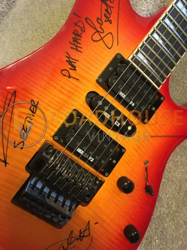IMG 8512 600x800 - Ibanez RG770FM Flame Top Guitar Hand Signed By Seether
