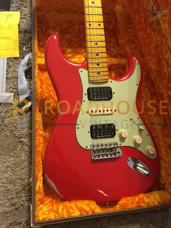 IMG 8646 600x800 - 2017 Fender Custom Shop 1961 Stratocster Relic H/S/H Hot Rod Red Strat 1-Piece Maple Neck